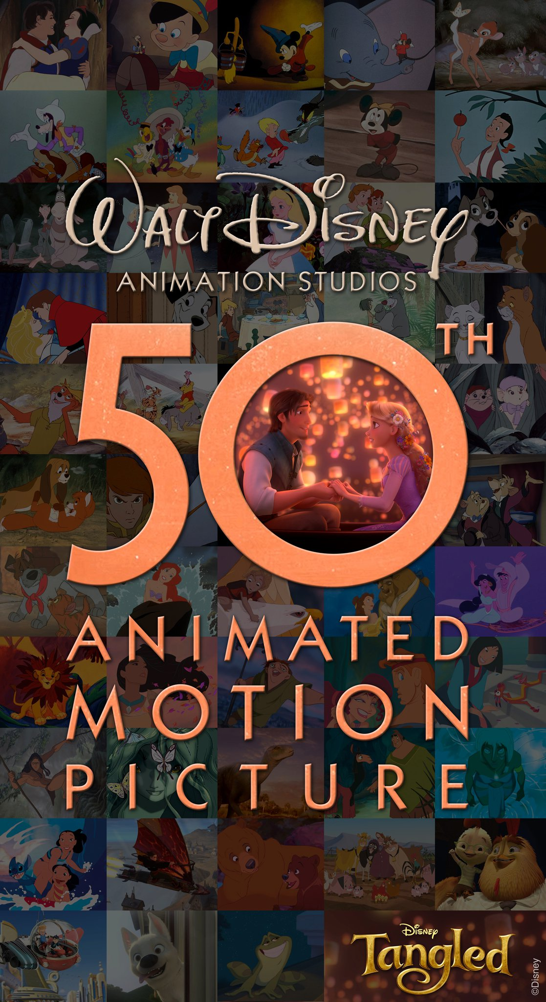 Tangled: Count Up to 50th Animated Motion Picture