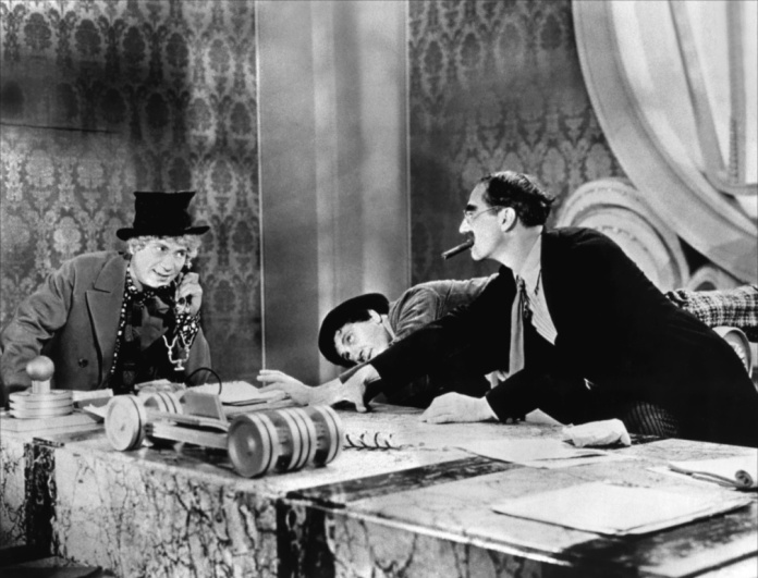 "Harpo, Chico and Groucho Marx in ""Duck Soup"" (Paramount, 1933)"