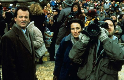 "Bill Murray, Andie MacDowell and Chris Elliott in ""Groundhog Day"" (Columbia, 1993)"