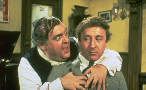 "Zero Mostel and Gene Wilder in ""The Producers"" (Embassy Pictures, 1968)"