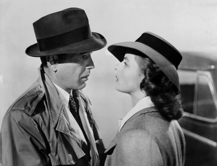 "Humphrey Bogart and Ingrid Bergman in ""Casablanca"" (Warner Bros., 1942)"