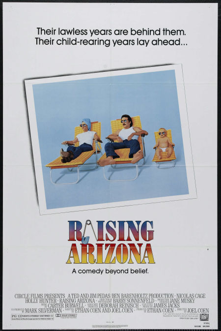 "Theatrical poster for ""Raising Arizona"" (20th Century Fox, 1987)"