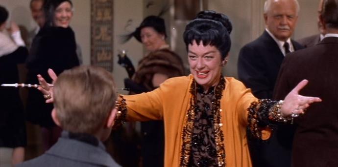 """Rosalind Russell in """"Auntie Mame"""" (Warner Bros., 1958)"""