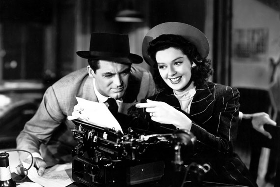 "Cary Grant and Rosalind Russell in ""His Girl Friday"" (Columbia, 1940)"