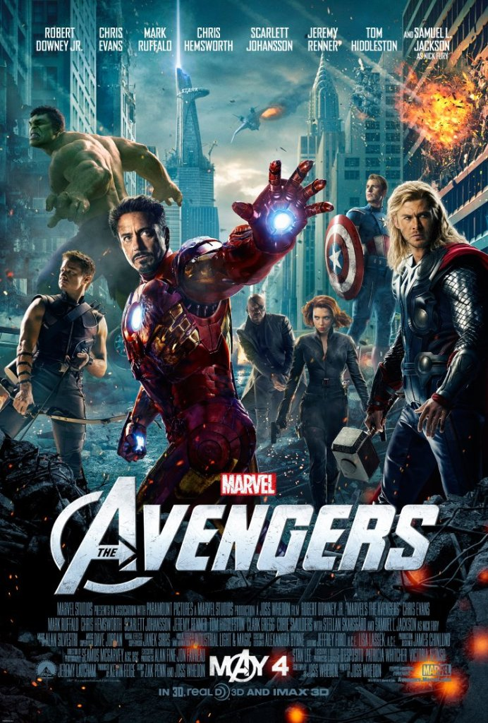 "Theatrical poster for ""Marvel's The Avengers"" (© Marvel/Disney/Paramount, 2012)"