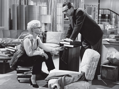 "Judy Holliday and William Holden in ""Born Yesterday"" (Columbia, 1950)"