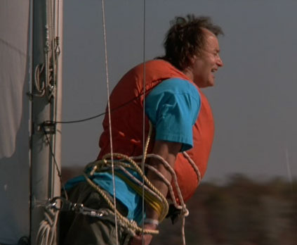 "Bob (Bill Murray) goes ""sailing"" in ""What About Bob?"" (Touchstone, 1991)"