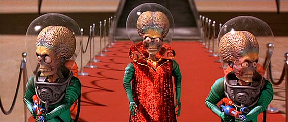 "The Killer Martians in ""Mars Attacks!"" (Warner Bros., 1996)"