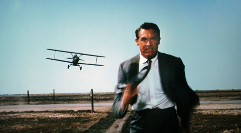 "Cary Grant in ""North by Northwest"" (MGM, 1959)"