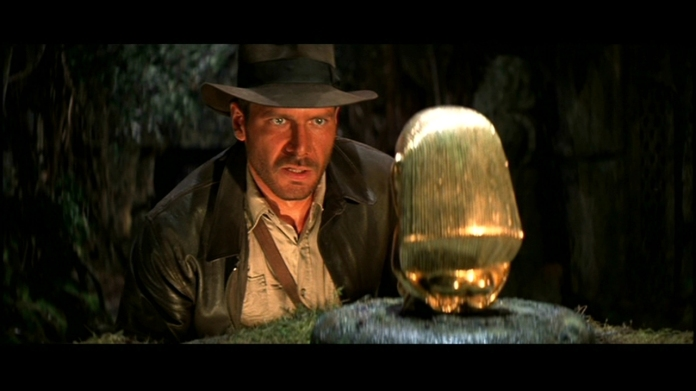 "Harrison Ford as Indiana Jones in ""Raiders of the Lost Ark"" (Paramount, 1981)"