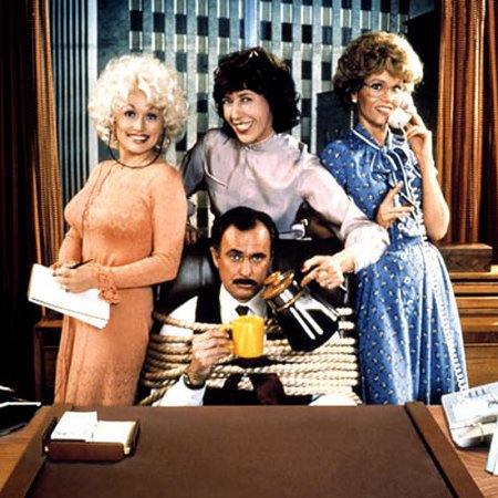 "Dolly Parton, Dabney Coleman, Lily Tomlin and Jane Fonda in ""9 to 5"" (20th Century Fox, 1980)"