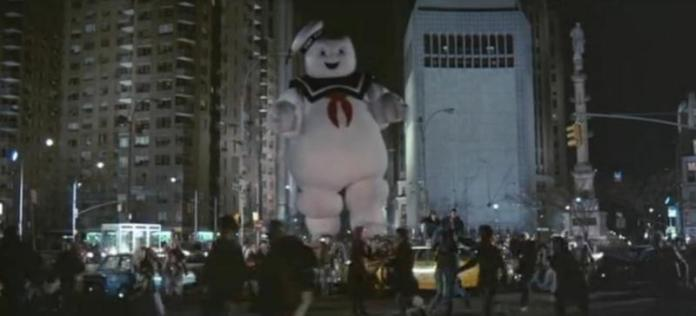 "The Stay-Puft Marshmallow Man attacks New York City in ""Ghostbusters"" (Columbia, 1984)"