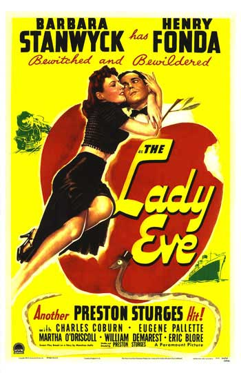 "Theatrical poster for ""The Lady Eve"" (Paramount, 1941)"