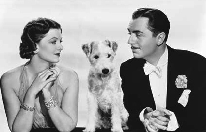 "Myrna Loy and William Powell play Nick and Nora Charles in ""The Thin Man"" (MGM, 1934)"