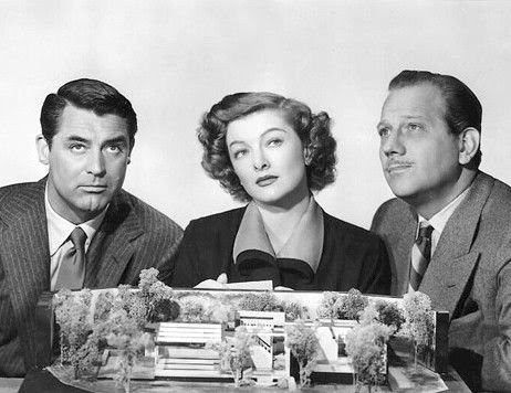 "Cary Grant, Myrna Loy and Melvyn Douglas in ""Mr. Blandings Builds His Dream House"" (RKO, 1948)"