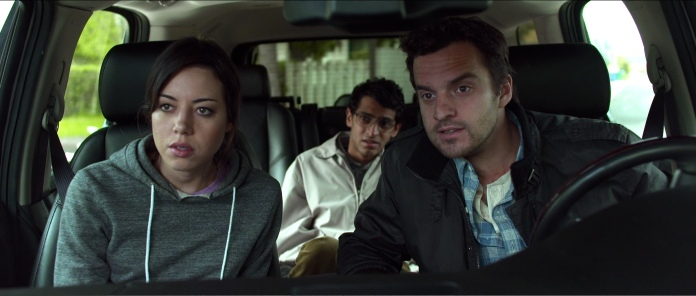 "Aubrey Plaza, Karan Soni and Jake M. Johnson in ""Safety Not Guaranteed"" (Big Beach Films, 2012)"