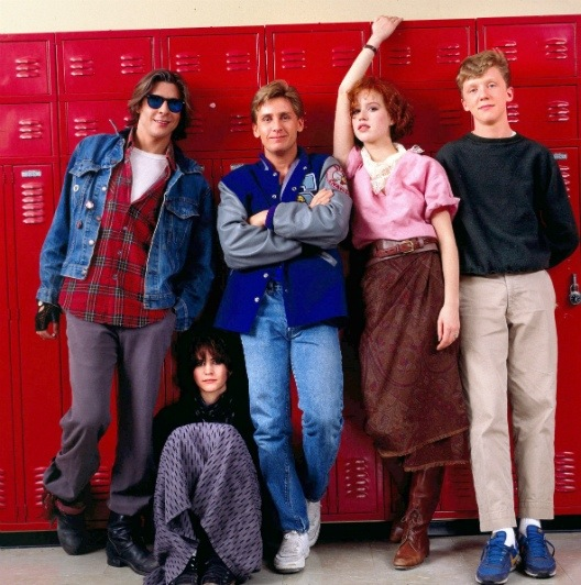 "Judd Nelson, Ally Sheedy, Emilio Estevez, Molly Ringwald and Anthony Michael Hall in ""The Breakfast Club"" (Universal, 1985)"