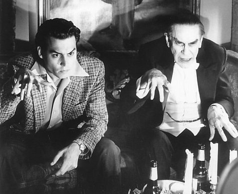 "Johnny Depp and Martin Landau in ""Ed Wood"" (Touchstone, 1994)"