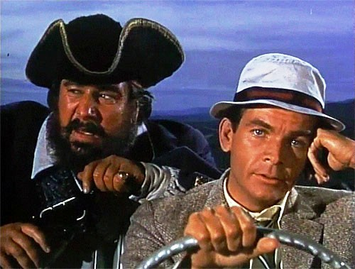 "Peter Ustinov and Dean Jones in ""Blackbeard's Ghost"" (Disney, 1968)"