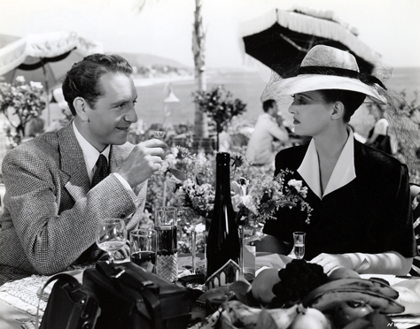 "Paul Henreid and Bette Davis in ""Now Voyager"" (Warner Bros., 1942)"
