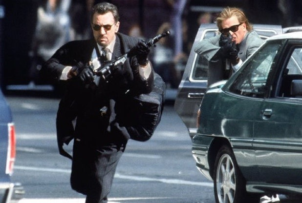 "Robert De Niro and Val Kilmer in ""Heat"" (Warner Bros., 1995)"