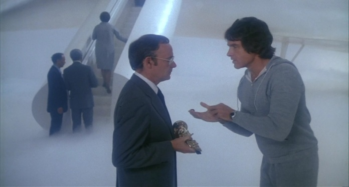 "Buck Henry and Warren Beatty in ""Heaven Can Wait"" (Paramount, 1978)"
