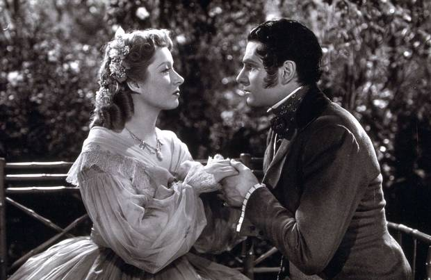 "Greer Garson and Laurence Olivier in ""Pride and Prejudice"" (MGM, 1940)"