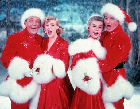 Bing Crosby, Rosemary Clooney, Vera-Ellen, and Danny Kaye in 'White Christmas' (Paramount, 1954)