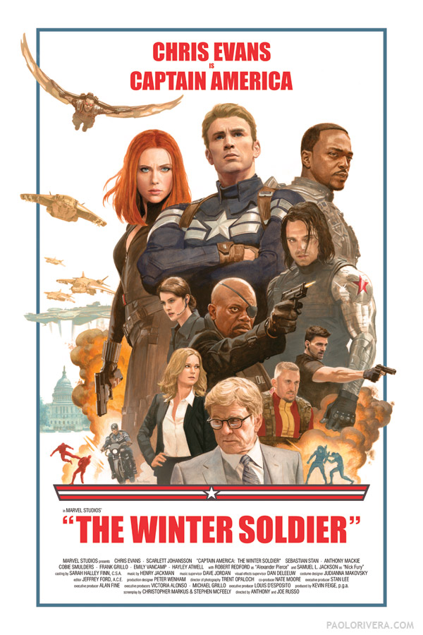 'Captain America: The Winter Soldier' retro poster (© Marvel)