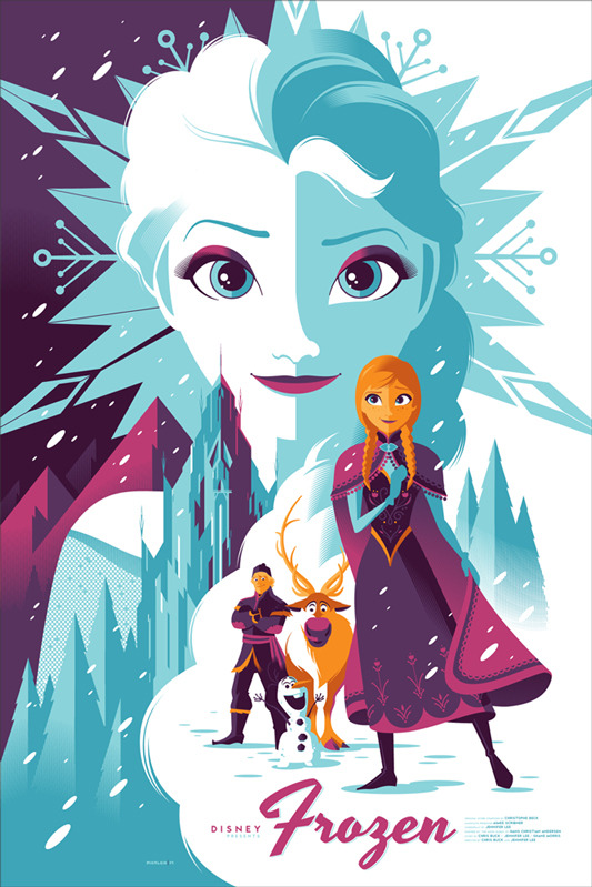 new disney animation posters by tom whalen