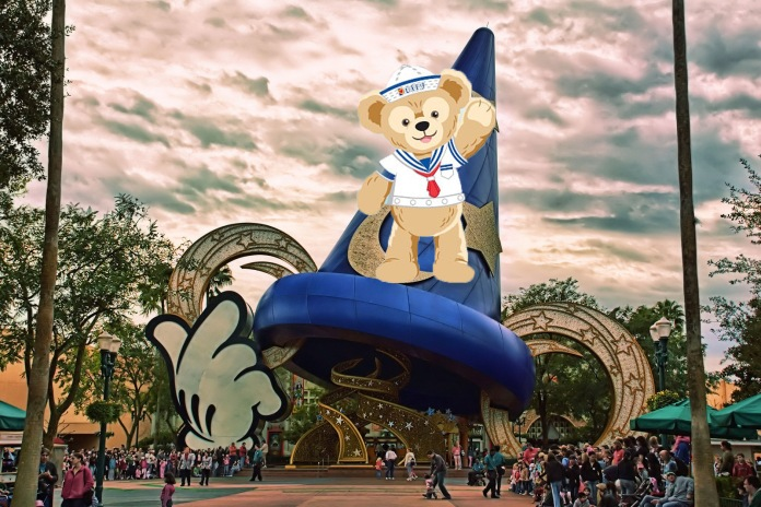 Idea 1: Put a giant cutout of Duffy the Disney Bear on the hat.