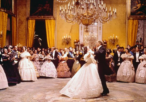 Burt Lancaster and Claudia Cardinale in the ball sequence in 'Il gattopardo' (1963)