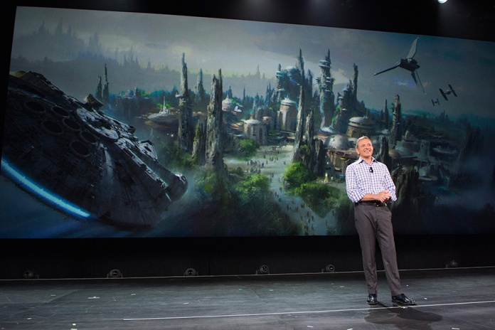 bob iger star wars land announcement